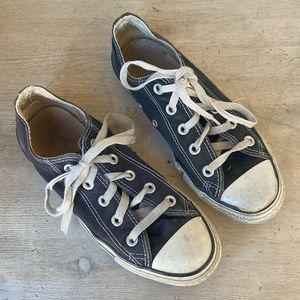 CONVERSE black ALL * STARS washed & ready to wear